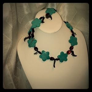 Turquoise and boot set